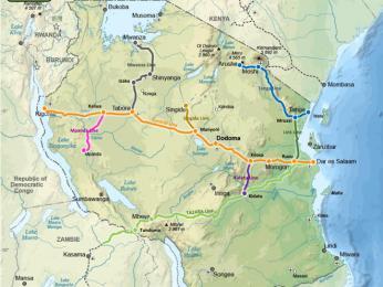 V obrovské Tanzanii je jen několik málo železničních tratí