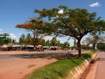 Městečko Mto Wa Mbu sousedí snárodním parkem Lake Manyara
