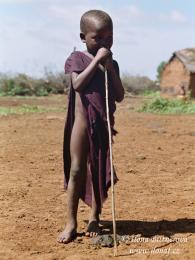 Mladý pasák dobytka z Masai Step