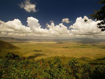 Kráter Ngorongoro - největší nezatopená kaldera světa