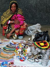 Stará Masajka nabízí své výrobky přímo na ulici