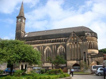 Anglikánská katedrála stojí na místě někdejšího trhu s otroky