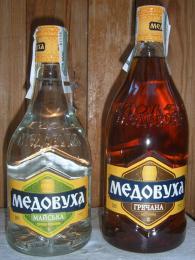 Ukrajinská medovina různých příchutí