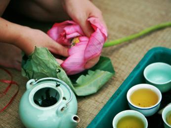 Lotosový čaj se podává při speciálních příležitostech