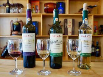 Víno se pěstuje zejména voblasti města Dalat