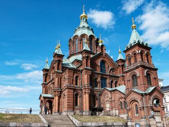 Uspenská katedrála vHelsinkách je největší pravoslavný chrám sev. Evropy