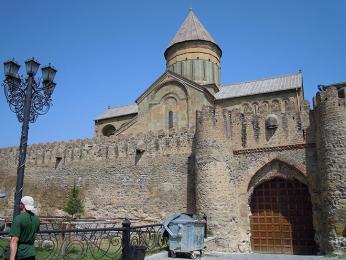 Katedrála Sveticchoveli v bývalé metropoli Gruzie Mcchetě