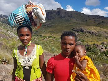 Fotogenická malgašská rodinka