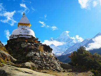 Buddhistická stúpa je symbolem kliduamíru