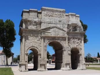 Vítězný oblouk v Orange byl vybudovaný Římany