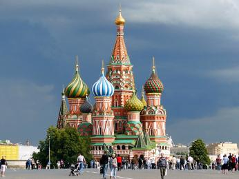 Impozantní chrám Vasila Blaženého je významný památník ruské architektury