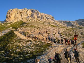 Výstup na vrchol Triglav od Vodnikova domu