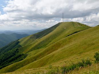 Vrchol Topas na polonině Krásna je vysoký 1 548 m