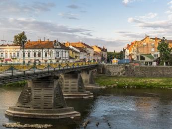 Centrum města Užhorod působí poklidným dojmem