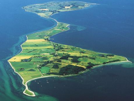 Letecký pohled na ostrov Ærø