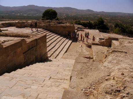 Mínójský palác Festos na Krétě