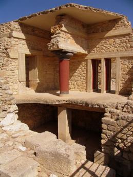 Pozůstatky mínojské kultury - palác vKnóssos