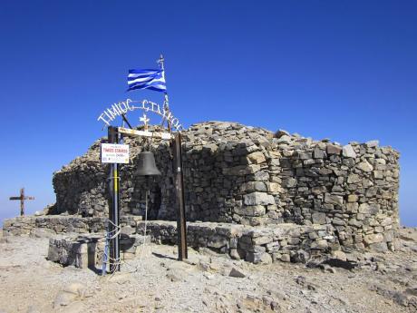 Kamenná kaple na vrcholu Psíloritis vpohoří Idi