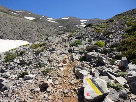 Cestou na nejvyšší vrchol ostrova Kréta Psíloritis