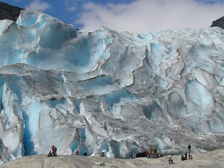 Ledovec v národním parku Jostedalsbreen