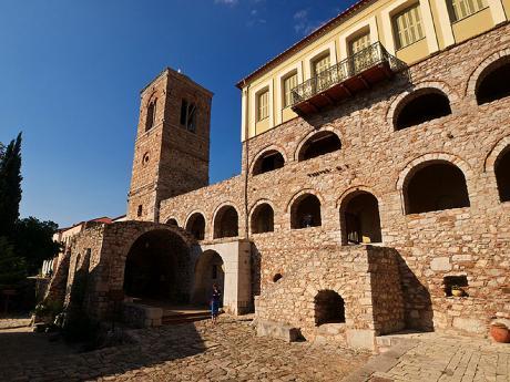 V areálu kláštera Osios Loukas