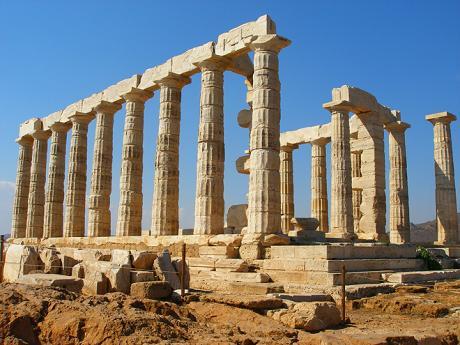 Apollónův chrám na mysu Sounion