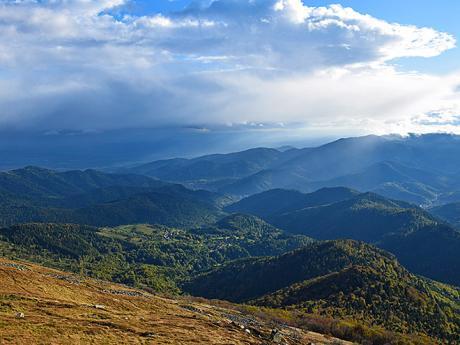 Pohoří Vogézy je charakteristické hustě zalesněnými vrcholy apastvinami
