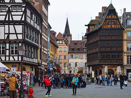 Maison Kammerzell na náměstí Place de la Cathédrale ve Štrasburku