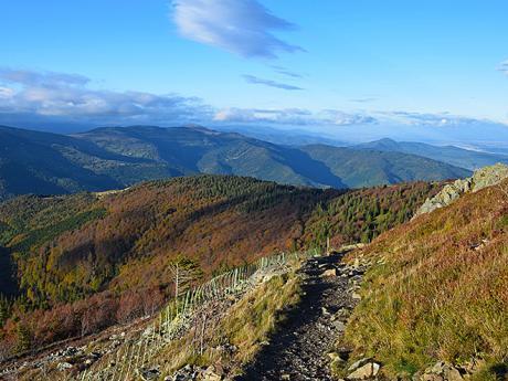 Pohled do kraje na pohoří ležící na pomezí Alsaska aLotrinska