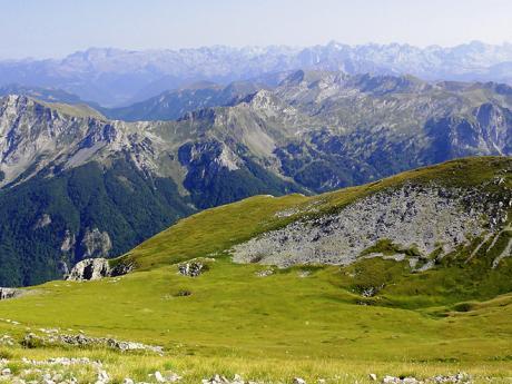 Pohoří Komovi u albánských hranic