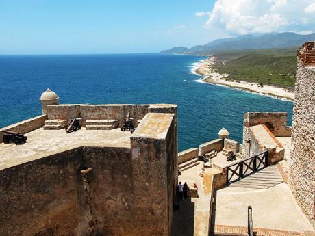 Středověká vojenská pevnost San Pedro del Morro zpočátku 17.století