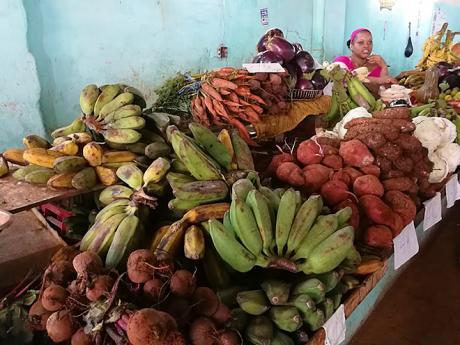 Kubánská tržnice nabízí nepřeberné množství exotického ovoce azeleniny