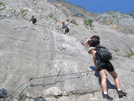Via ferrata Rino Pisetta - jedna znejtěžších zajištěných cest