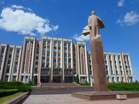 Prezidentský palác vTiraspolu, metropoli Podněsterské republiky