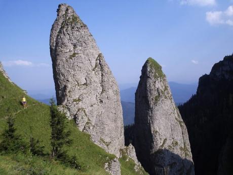 Sloupovité skalnaté útvary vpohoří Ceahlău