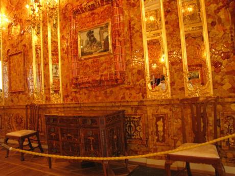 Slavná Jantarová komnata v Puškinu