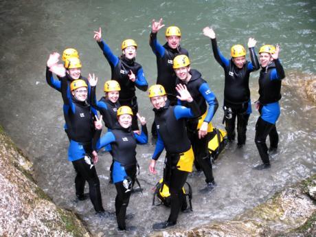 Plni odhodlání vzhůru na canyoning! :-)