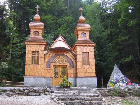 Ruská kaple postavená ruskými zajatci za 1. světové války