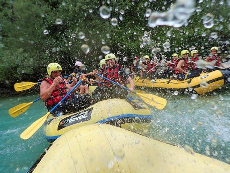 Rafting na řece Soča je osvěžující zážitek