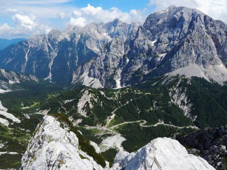 Panoramatický pohled na sedlo Vršič