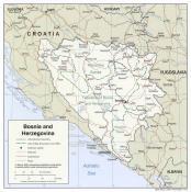Politická mapa Bosny a Hercegoviny ke stažení
