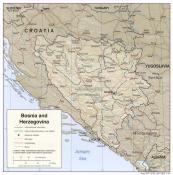 Mapa reliéfu Bosny a Hercegoviny ke stažení