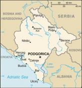 Politická mapa Černé Hory ke stažení