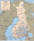 Politická mapa Finska ke stažení