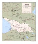 Politická mapa Gruzie ke stažení