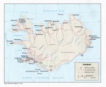 Politická mapa Islandu ke stažení