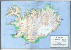 Mapa reliéfu Islandu ke stažení