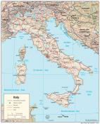 Mapa reliéfu Itálie ke stažení