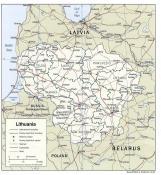 Politická mapa Litvy ke stažení