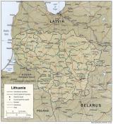 Mapa reliéfu Litvy ke stažení